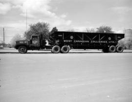[West Canadian Collieries Ltd. freight truck]