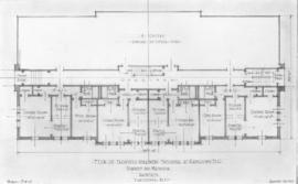 [Photograph of plan of proposed apartment building at Kamloops B.C.]