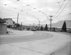 [View looking northwest on] Dunbar Diversion [at West 14th Avenue]