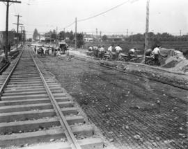 [View of road paving on 41st Avenue east of the Boulevard]