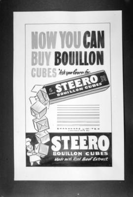 [Poster for Steero beef bouillon]