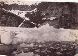 "[View of icebergs from the S.S. ""Queen""]"