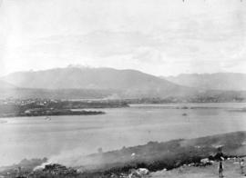 [Looking east across False Creek from 8th Avenue between Alder Street and Spruce Street]