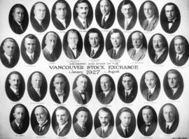 Members and Staff of the Vancouver Stock Exchange January 1927 to August