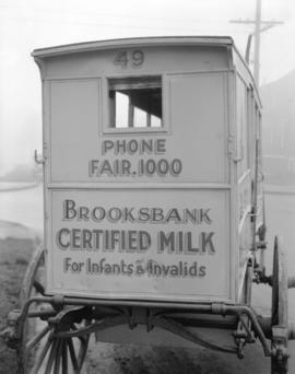 Damaged Milk Wagon at Associated Dairies