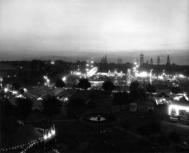 View of P.N.E. grounds at night
