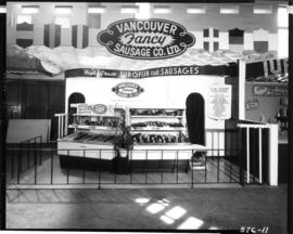 Vancouver Fancy Sausage Co. display in Pure Foods building