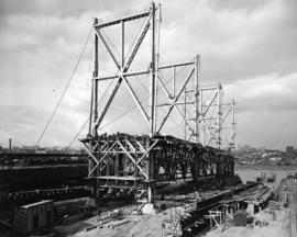 [A hull under construction at West Coast Shipbuilders Limited]