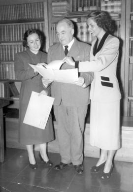 [Two members of The Junior League visit the Archives]