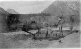 [Boston Premier Gold Company gold dredge] - the 'ruin.'  Looking west.  Taken at extrem...