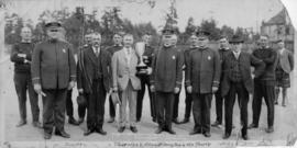 Vancouver Police winning tug-of-war trophy