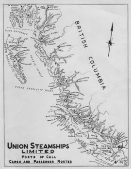 Union Steamships Limited : ports of call : cargo and passenger routes