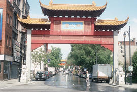 Chinese gate in Montreal Chinatown