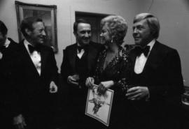 Mitzi Gaynor with Hugh Pickett and group in Vancouver