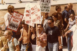 GATE [Gay Alliance Toward Equality] anti-violence rally : Aug. 1978/79