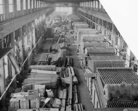 [Interior of Vancouver Iron Works and Engineering Limited at 1155 West 6th Avenue]