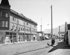 [View of buildings and street in Skagway Alaska]