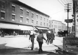 [The west side of Carrall Street looking north towards Cordova Street]