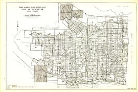 Index to 400 ft. scale section maps, City of Vancouver, British Columbia