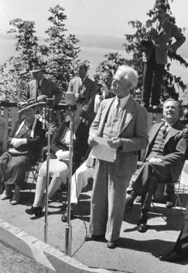 "[Mr. Philip T. Timms speaking at the unveiling of the walking beam of the S.S. ""Beaver""..."