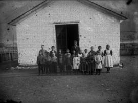 School with school children, J.C. Morrison