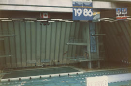 Interior of Vancouver Aquatic Centre during Dive Canada International at 1050 Beach Avenue