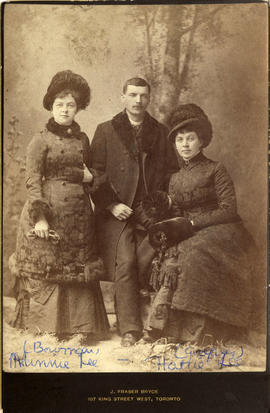 Minnie Lee and Harriet Ellen Lee (on right) with [Alexander Godfrey]