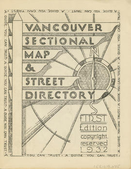 Sectional map and street directory of Vancouver, British Columbia : title page
