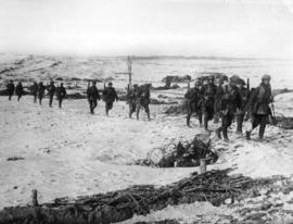[Royal Engineers return from the trenches on the Western Front]