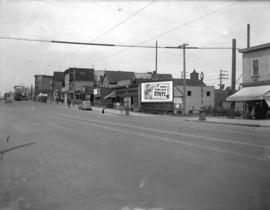 [View of East Hastings Street looking west from Heatley Street]