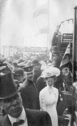 [The Duchess of Connaught and others at the opening of the Cambie Bridge]