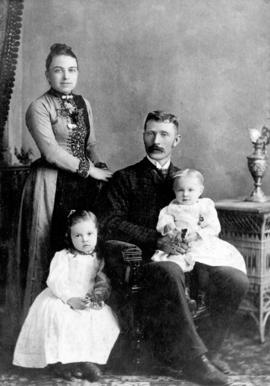 [Mr. and Mrs. Charles Sitbald Lockwood Street with two of their daughters]