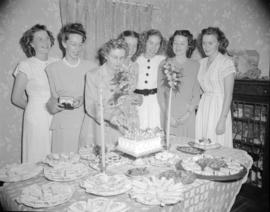 [Group of women at a B.C. Telephone employee's retirement party]