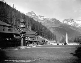 Glacier House, C.P.R., Selkirk Mount[ain]s and Hermit Range