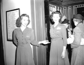 Elevator girls [at] Hudson Bay Company