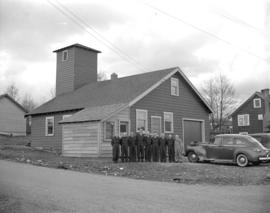 D.L. 172 - A.R.P. [members outside unidentified firehall]