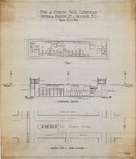 Plan of proposed public convenience, Georgia & Granville Sts., Vancouver, B.C.