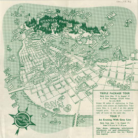 Map of downtown Vancouver, B.C. and sightseeing schedule : side 2