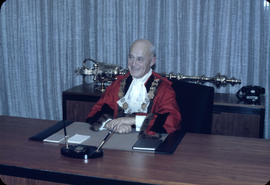 City Hall; W.O.B. in Robes Seated at Desk