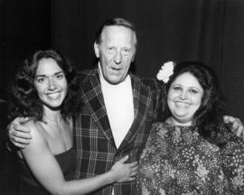Hugh Pickett with two unidentified women