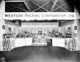 Western Packing Co. display of canned goods