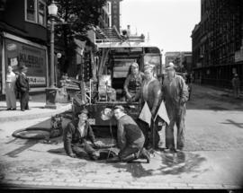 [B.C. Telephone workers at Robson Street]