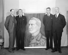 Group with painting of general (5th Battalion)