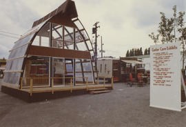 "Holt Homes display in ""center core exhibits"" area on P.N.E. grounds"