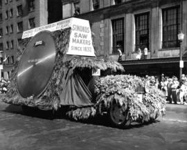 Simonds Saw Makers float in 1947 P.N.E. Opening Day Parade