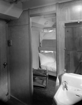 [Interior view of a cabin on the S.S. Coquitlam]