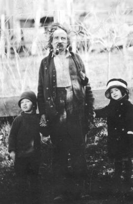 [Mr. Hawkins with John and Mary Wicks]