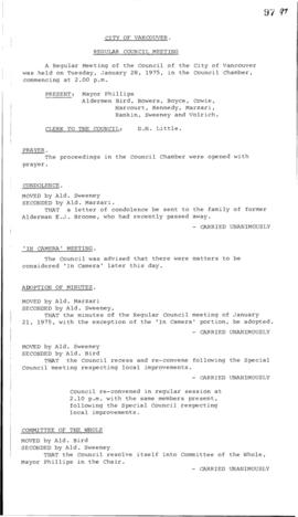Council Meeting Minutes : Jan. 28, 1975