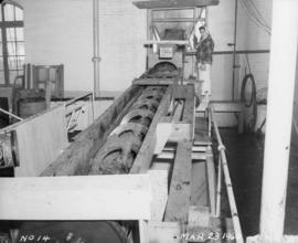 """Cutting in"" damaged raw sugar from MV Thorsisle - crane and scrolls"