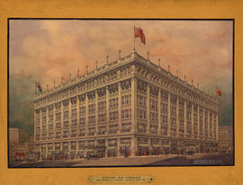 Perspective rendering of the Hudson's Bay Company Store, Granville Street